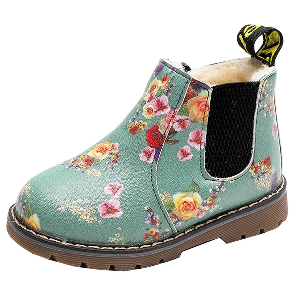 Fashion Kids Baby Boys Girls Casual Winter Warm Martin Sneaker Boots Shoes