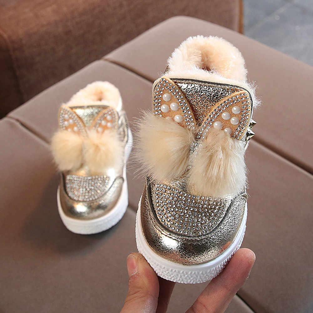 8368464a35 MUQGEW 2018 Hot Sale Children Toddler Baby Bunny Ears Sneaker Girls Warm  Soft Anti-slip Single Shoes Dropshipping Baby Shoes