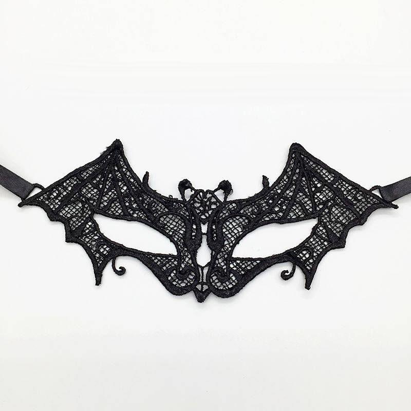 Черная Сексуальная кружевная Маскарадная маска для карнавала, Хэллоуина, маскарада на половину лица, маски для вечеринки, праздничные принадлежности для вечеринки#30 - Цвет: PM009