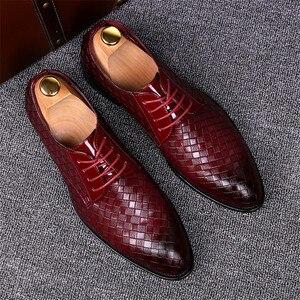 Image 5 - Zapatos formales para hombre talla 38 ~ 48, zapatos de cuero elegantes para hombre, zapatos de boda # AF3702