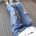 Verfalin Trousers Jeans 2016 Summer/Autumn Denim Ankle Length Jeans Pants Women Hole Pants Low Waist Loose Jeans Female Clothing