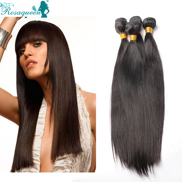 Free Shipping Peruvian Virgin Hair Straight 6A Grade Human Hair Weave 3Pcs/Lot Peruvian Straight Rosa Hair Products