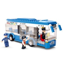 City Bus Building Blocks Compatible With Legoings DIY Model Bricks Building Kit Education Toys Kids Gifts недорого