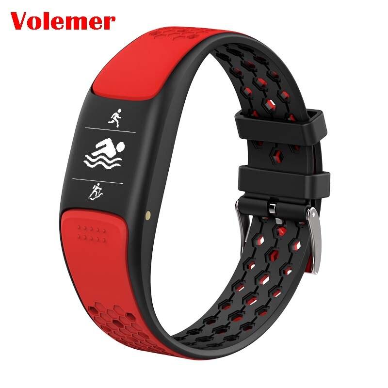 Volemer P8 Bracelet intelligent HD OLED affichage intelligent Sport Fitness Bracelet IP68 étanche soutien natation GPS Tracker d'activité