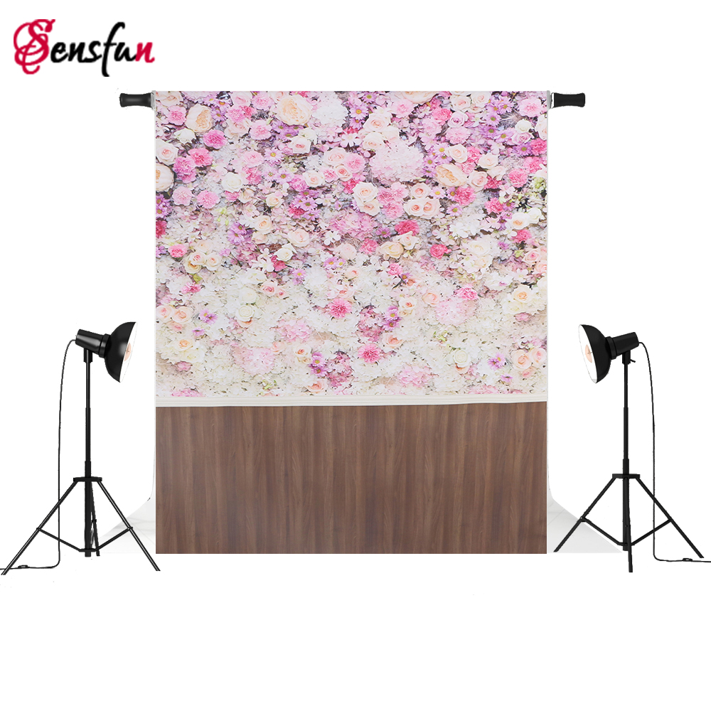Thin Vinyl Photography Background for photo Studio Customize Spring Flowers Backdrops fundo fotografico para estudio photography backdrop brick roof 5x7 newborn rainbow flags on top custom background backdrops fundo fotografico para estudio