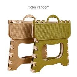 Домашний кухонный Многофункциональный портативный удобный складной стул, компактный пластиковый стул, удобное хранение