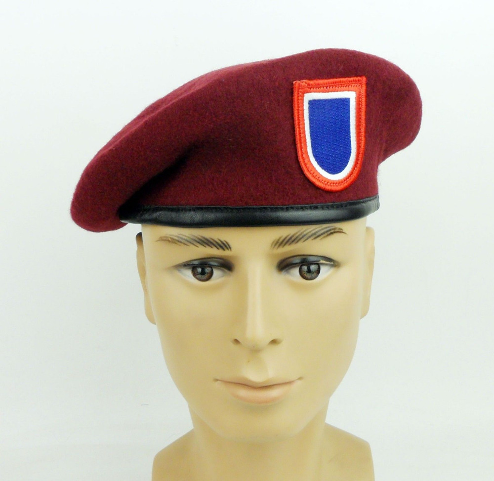 US Army 82nd Airborne Division Red Beret US Special Forces Beret Hat Wool  World military Store