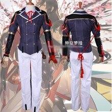 Anime Webgame Touken Ranbu Horikawa Kunihiro Cosplay Uniforme Azul Blanco hombre ropa de mujer