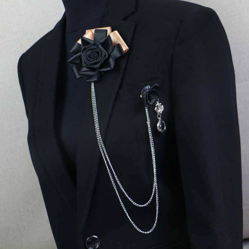 Spedizione Gratuita ABBIGLIAMENTO UOMO 2016 maschio femmina MC pettorale spilla frange vestito accessori Coreano Nero Rosa Corpetto in vendita