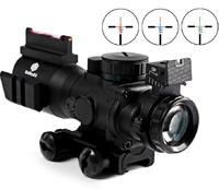Hunting Red Dot Sight Riflescope 4x32 Compact Rifle Scope Fiber Sight Airsoftsports Airsoft Air Guns Rifle Scope for 20MM Rail