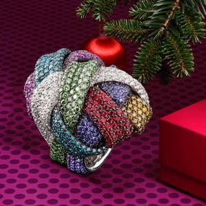 Image 5 - Godki anel de noiva unissex, anel de casamento, unissex, com dedo de noiva, geométrico cúbico, marca famosa de luxo 2018