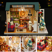 Doll House Miniature DIY Dollhouse With Furnitures American Retro Style 3D Wooden House Toys Holiday Times Z009 #E(China)