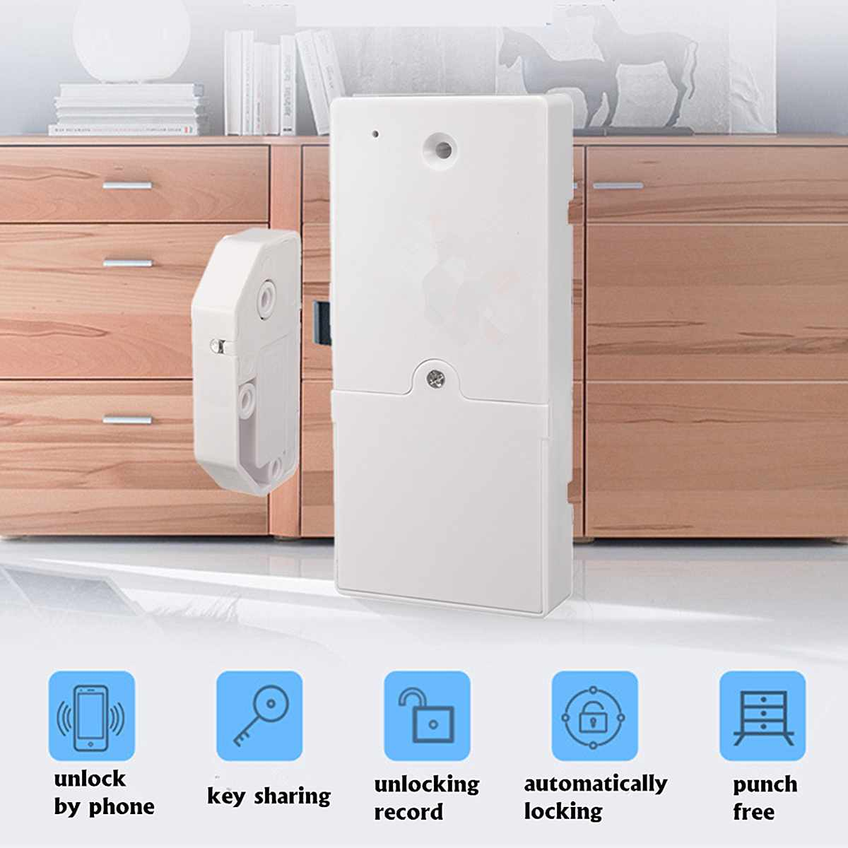 Smart Electronic Cabinet Drawer Door Lock Digital Auto Safety Locker Access Control Accessories Office Home Security Supplies