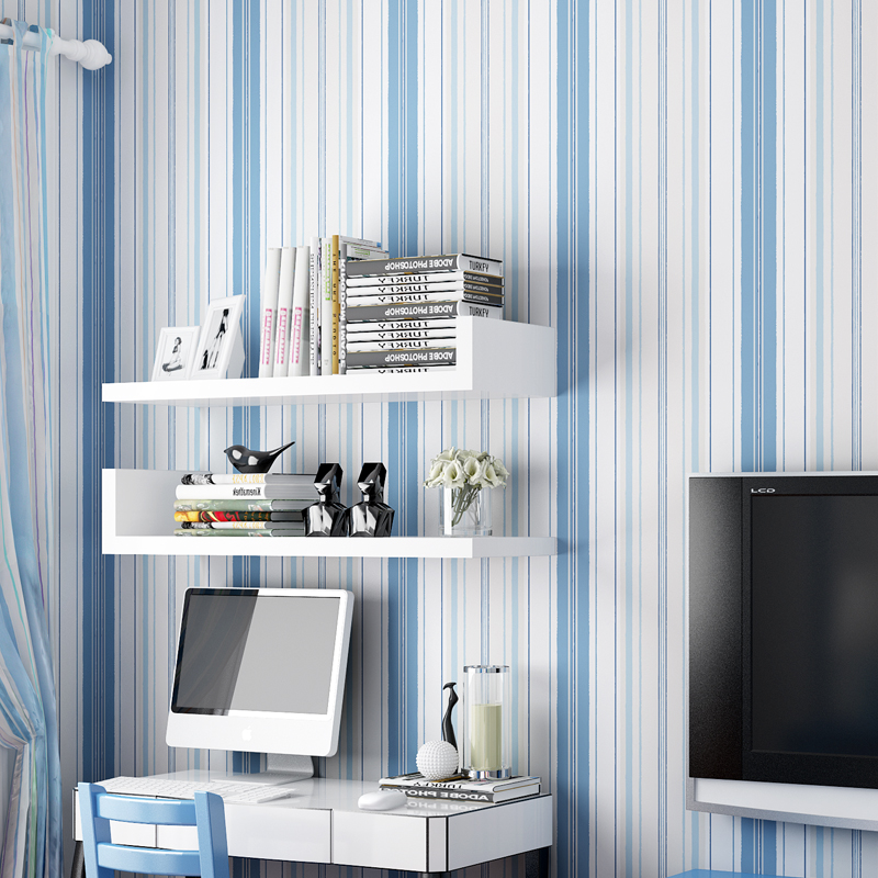 Modern Living Room Bedroom Wall Decoration Wallpaper For Kids Room PVC Self-adhesive Stickers Pink Blue White Striped Wall PaperModern Living Room Bedroom Wall Decoration Wallpaper For Kids Room PVC Self-adhesive Stickers Pink Blue White Striped Wall Paper
