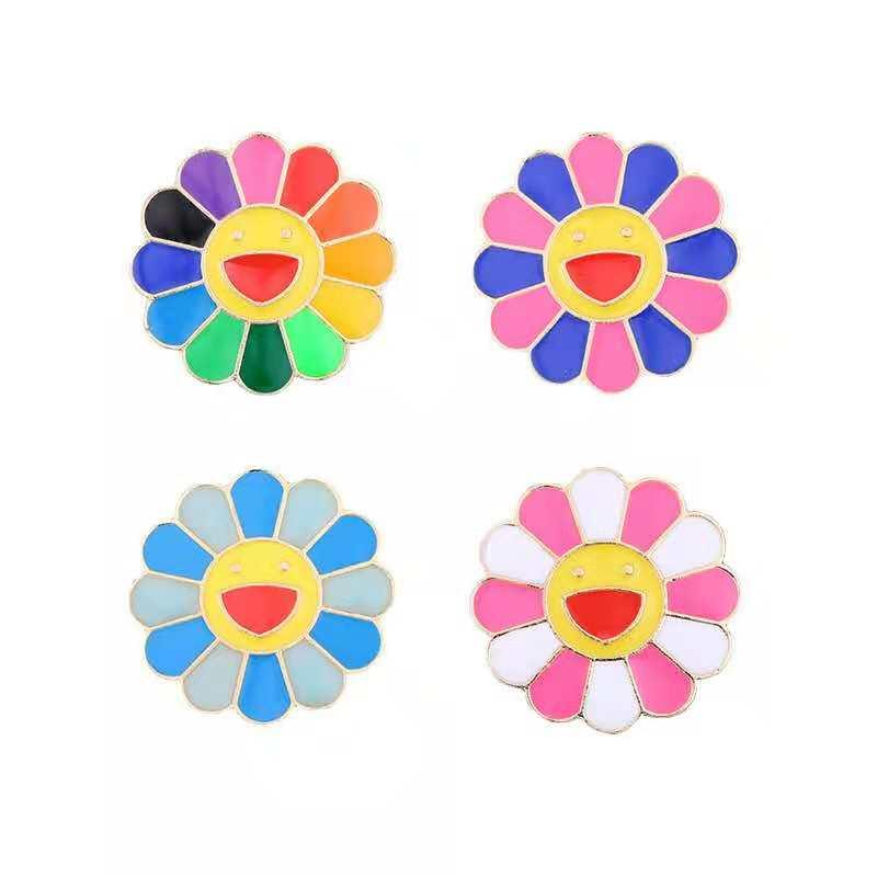 Multi Gaya Kartun Smiley Bunga Matahari Enamel Pin Bros Biru Merah Pink Hijau Warna Bros Untuk Wanita Hadiah Lencana Pasangan Perhiasan Bros Aliexpress