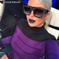 JUSTRUE New 2017 Women Sunglasses Oversized Mosaic Crystal Luxury Brand Design Big Square Mens Shades Celebrities Gafas de sol