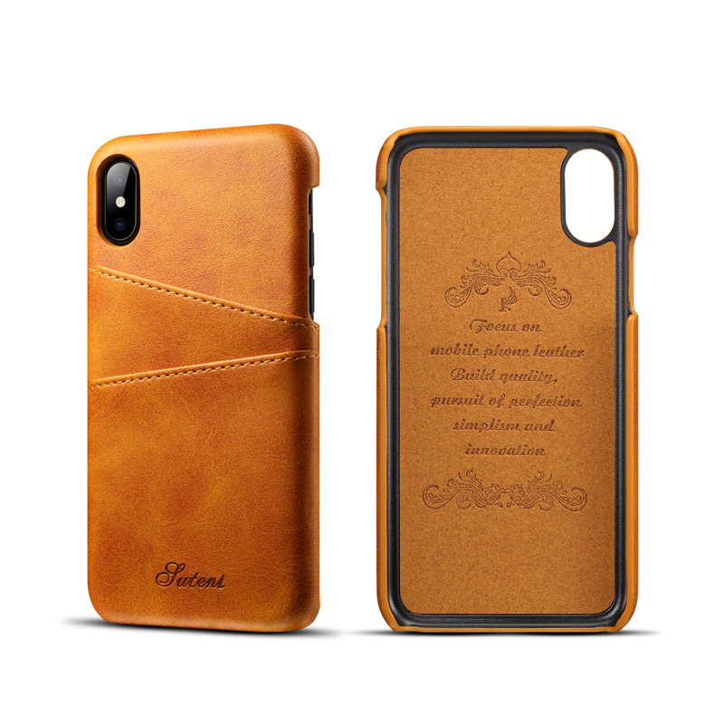 Leather phone case back housing Card house bag back cover for huawei iphone 6 6S 7 7S 8 plus X samsung S8 S9 Note P20 pro mate10