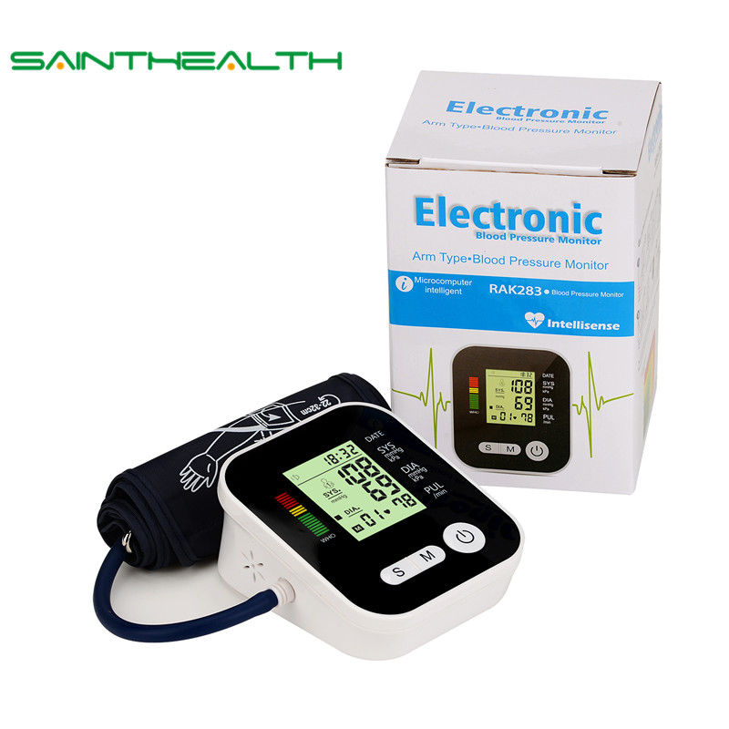 Portable Arm Blood Pressure Pulse Monitor Digital Upper Blood Pressure Monitor Meters Sphygmomanometer Monitors Health Care digital upper arm blood pressure pulse monitors tonometer portable health care bp blood pressure monitor meters sphygmomanometer