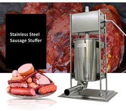 15л шприц для сосисок из нержавеющей стали, машина для изготовления коммерческих колбаса, мясорубка, колбасы, сопла