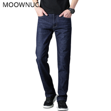 Jean Long Trouser High-end Youth Business Casual New Men Cotton Classic Style Jeans FIt Fashion MOOWNUC MWC Washed