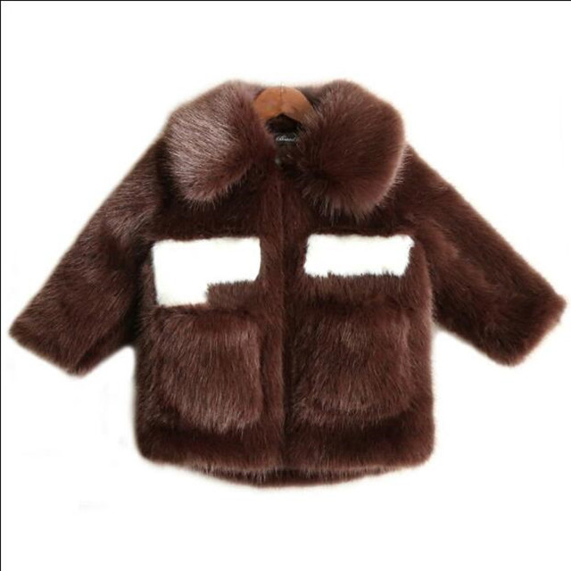 56951fe0e807 Furry Winter Baby Girls Boys Clothes Faux Mink Fur Infant Coat Warm ...