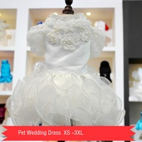 Petalk New Wedding Dress For Pet Luxury Princess Small Medium Large Dogs Bride Dress Pet Costume
