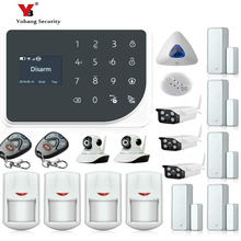 YoBang Security 433MHZ GSM Wireless Smart Home Safety Alarm System Kit Wireless Alarm Inroom Outdoor IP Camera Smoke Fire Sensor