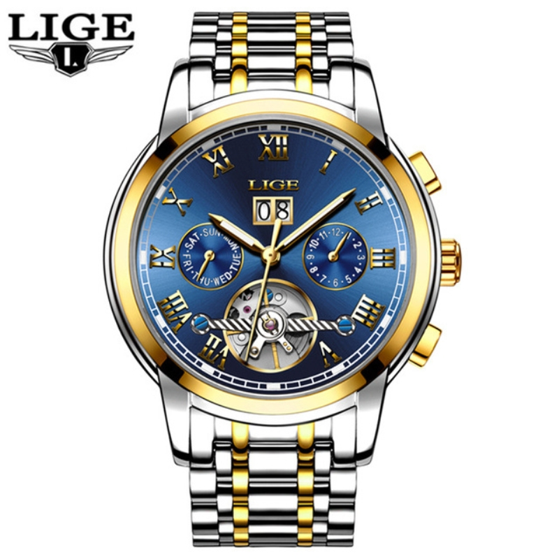 Reloj Hombre Mens Watches Top Brand Luxury LIGE Automatic Machinery Watch Men Fashion Casual Waterproof Clock Relogio Masculino reloj hombre top brand luxury simple fashion casual business watches men date waterproof automatic mens watch relogio masculino