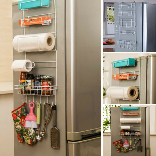 Over Door Kitchen Storage Basket Spice Rack 6 Tiers Pantry Closet Fridge Holder Racks Home Storage