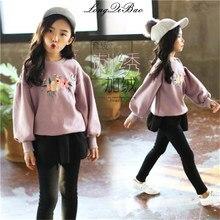 e4bc4d2f103 Детские Осенняя Одежда для девочек толщиной с длинными рукавами вышивка 2018  новый корейский вариант осенне-
