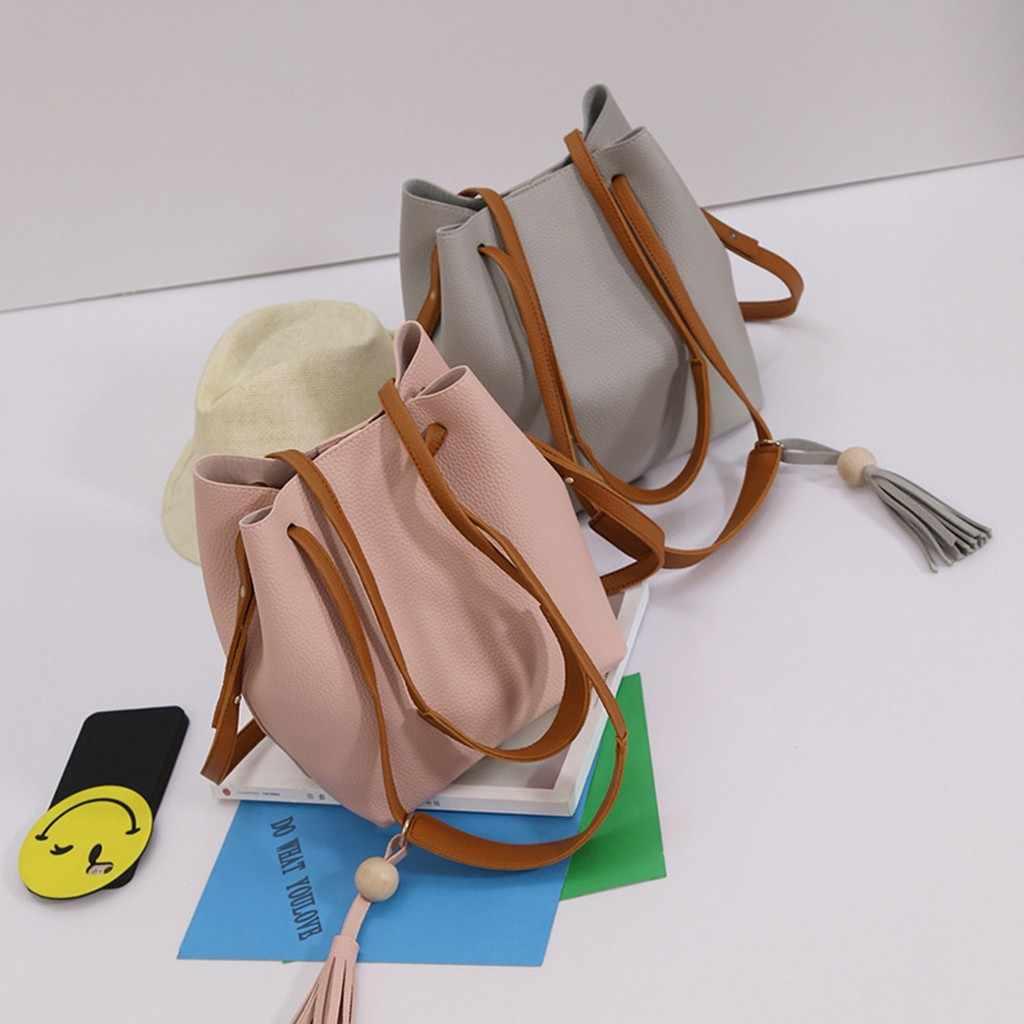 Xiniu Mulheres Tassel Bolsa de Ombro Bolsa Tote Mensageiro Satchel Cruz Body Bags Famosa Marca Borsa um tracolla donna da nova 827