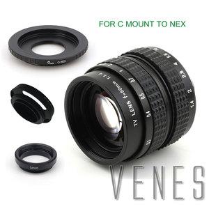 Image 5 - Venes lente de 50mm f/1,4 CC TV F1.4 para Nikon 1 M4/3 para Pentax Q Nex para Fuji FX EOS M A6300A5100 A6000 A5000 A3000 OM DE M10 II