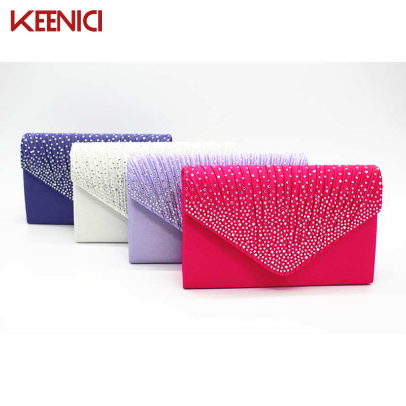 KEENICI New Woman Evening bag Women Diamond Rhinestone Clutch Crystal Day Clutch Wallet Wedding Purse Party Banquet Multicolor woman evening bag women diamond rhinestone clutches crystal day clutch wallet wedding purse party banquet evening bags classic