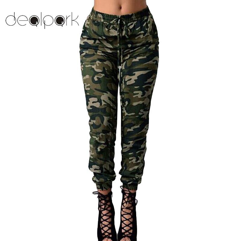 Plus Size Women Camouflage Pants