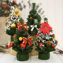 Christmas Decorations Creative 20 Cm Mini Trumpet Decorated Tree Hotel Window Restaurant Desktop Ornaments