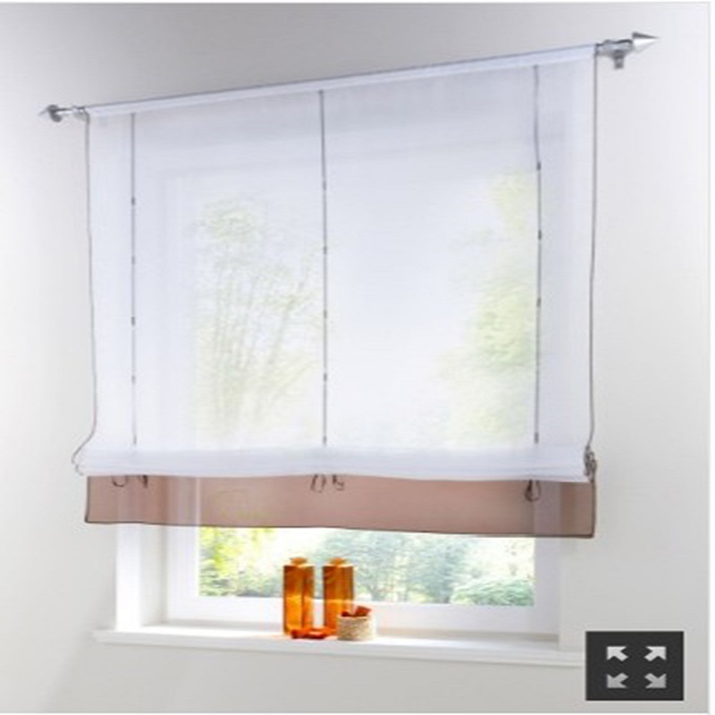 Aliexpress Com Buy Kitchen Short Curtains Window: Aliexpress.com : Buy Short Voile Kitchen Curtains Sling Stretch Solid Sheer Cortinas Blinds