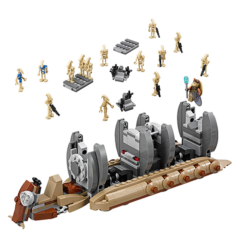 1-100pcs Star Wars BATTLE DROID ARMY BUILDER Blocks Toy Compatible Clone Roger 5