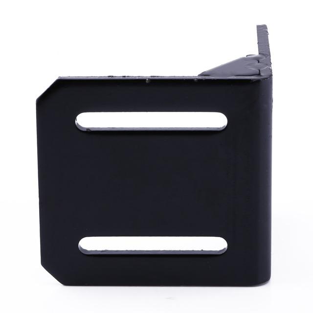 Black Alloy Steel Mounting Bracket For 42mm NEMA17 Stepper Motor With Screws 2PCS