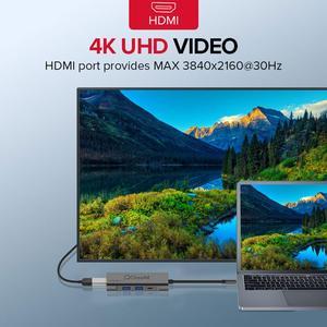 Image 5 - QGeeM USB C HUB HDMI Tipo C HUB A Hdmi USB 3.0 Thunderbolt 3 lettore di Schede Per Macbook 2018 mate20 P30 glaxy S9 S10 USB C HUB