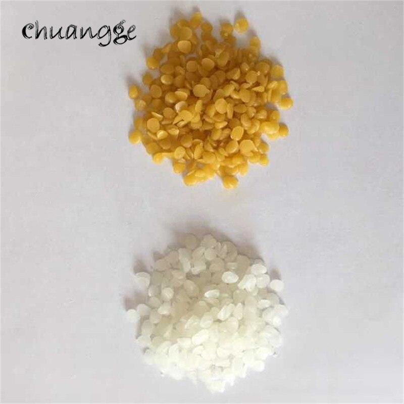 CHUANGGE 100% Pure nature blanc cire d'abeille cosmétiques matériaux bougies faisant des fournitures meubles entretien guêpe cire 500g