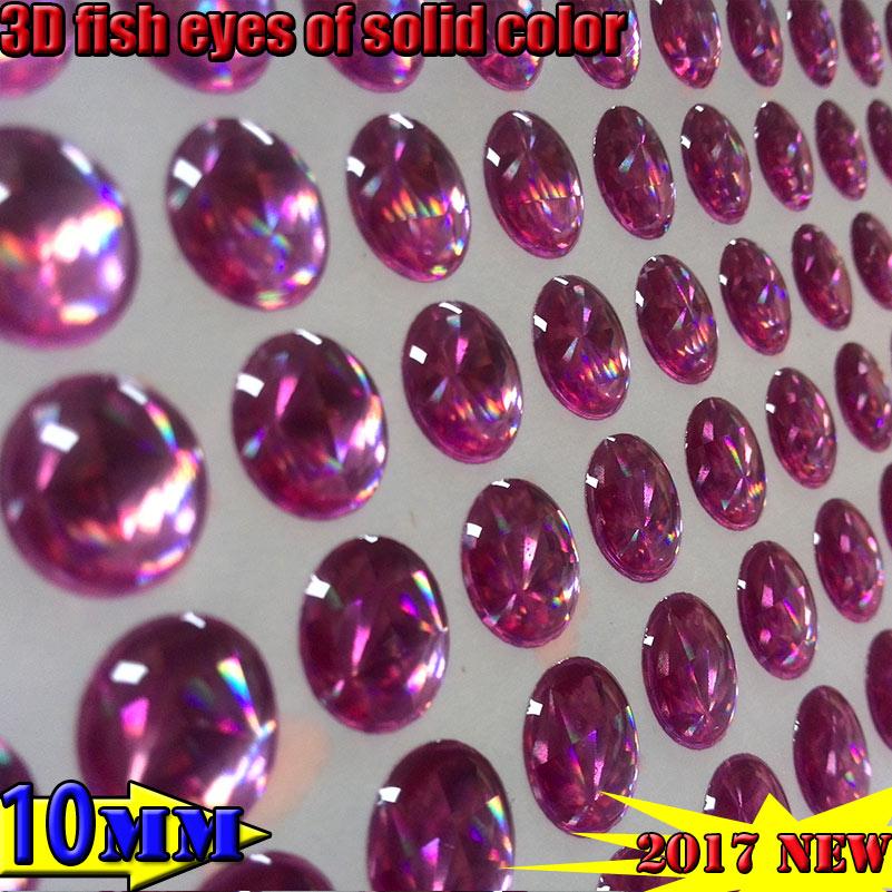 2017new artificial isca de pesca olhos 3d quantidade: 800 pçs/lote cor sólida: rosa