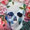 Punk Skull Art Floral Tapestry 1