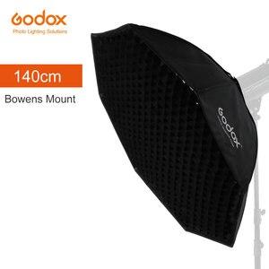 Image 1 - Godox 95cm 120cm 140cm stüdyo sekizgen petek izgara Softbox reflektör softbox Bowens dağı stüdyo flaş ışığı için flaş ışığı