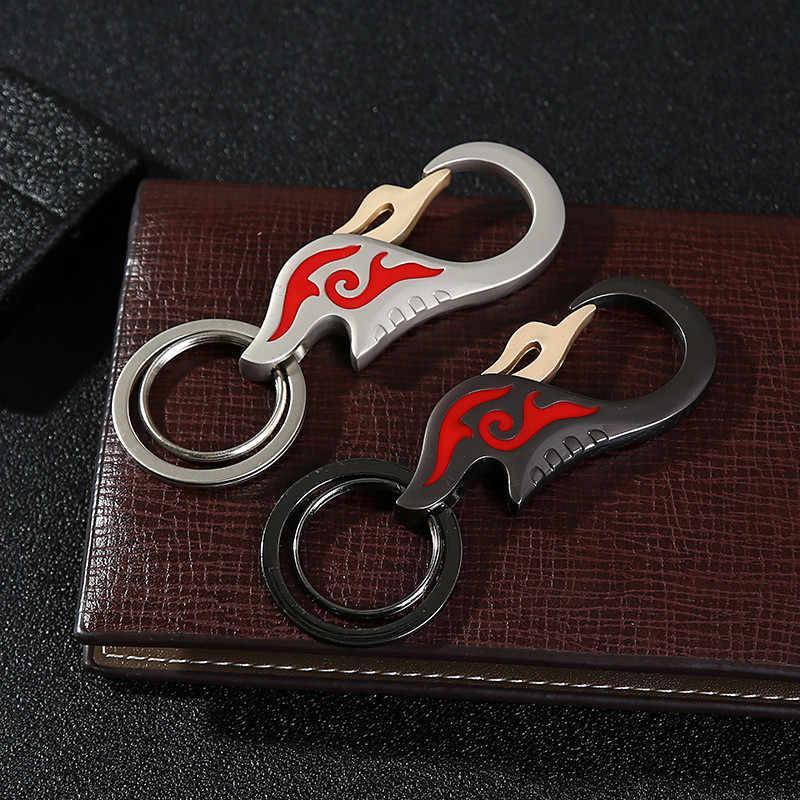 חדש Creative להבת רכב מפתח שרשרת לגברים סגסוגת תכשיט יוקרה מותניים תלויים Sleutelhanger אישית מתנות