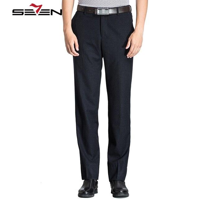 Seven7 2017 Nueva Llegada Slim Fit Pantalones de Vestir Ropa de Invierno Ropa Transpirable Para Hombre Pantalones de Traje Pantalones Casuales Recta 111B70070