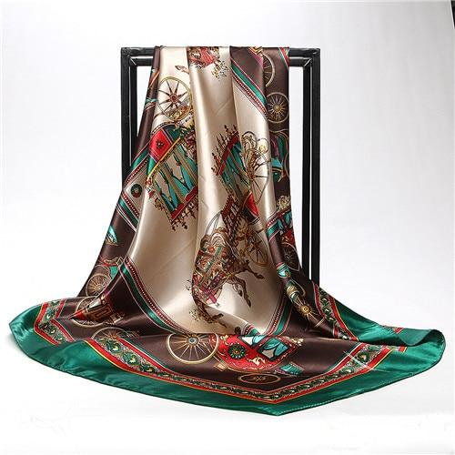 POBING Women Silk Scarf...