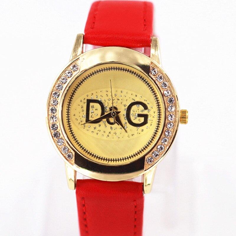 Fashion diamond font b Womens b font Watch Luxury High Quality Leather Ladies Watches Waterproof Quartz