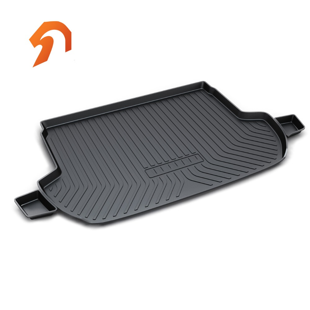 Rubber Rear Trunk Cover Cargo Liner Trunk Tray Floor Mats For SUBARU Forester 2015 2016 2017 Car Floor Trunk Carpet Liner Mats car rear trunk security shield cargo cover for subaru tribeca 2013 2014 2015 2016 2017 high qualit black beige auto accessories