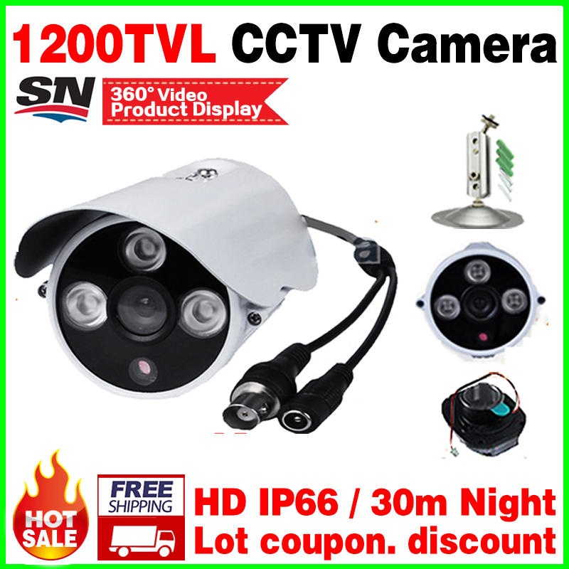 with bracket Cmos 1200TVL Outdoor Security CCTV hd Camera Array IRCUT Hd Night Vision Surveillance Surveillance security vidicon