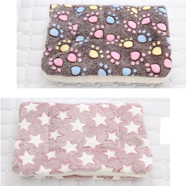 HEYPET Pet Blanket Dog Bed Cat Mat Soft Coral Fleece Winter Thicken Warm  Sleeping Beds for Small Medium Dogs Cats Pet Supplies